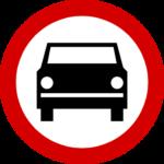 zakaz wjazdu określony dla pojazdów silnikowych